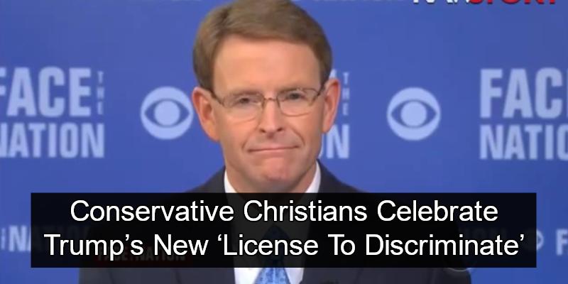 Conservative Christians Celebrate Trump's New 'License To Discriminate' (Tony Perkins Image via Screen Grab)