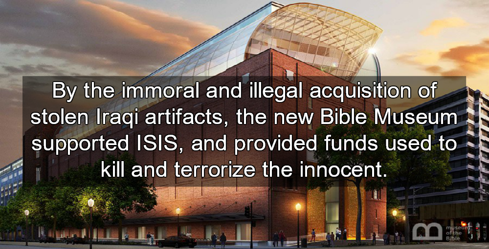 Corrupt Hobby Lobby Bible Museum Opens In Washington D.C. (Image via Twitter)