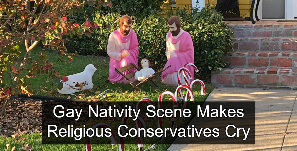 Religious Conservatives Outraged By Gay Nativity 'Sacrilege' (Image via Twitter)