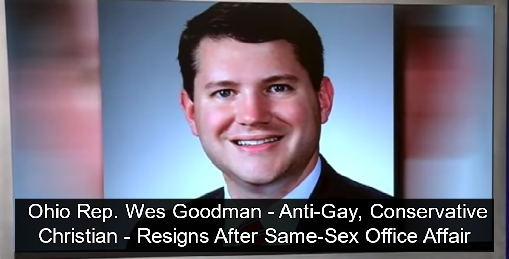 Ohio Rep. Wes Goodman - Married Christian Lawmaker -Resigns After Same-Sex Office Affair (Image via Screen Grab)