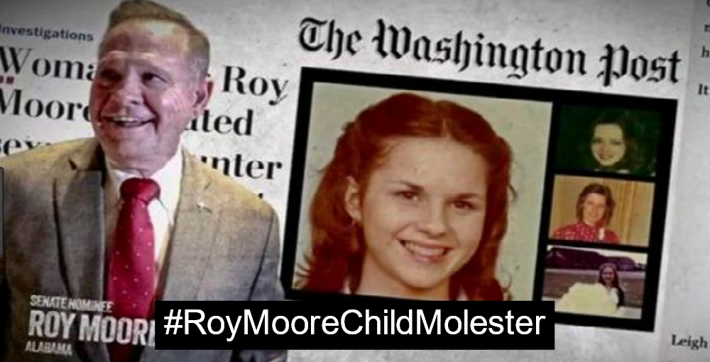 Conservative Christians Defend Roy Moore Child Molester (Image via Screen Grab)