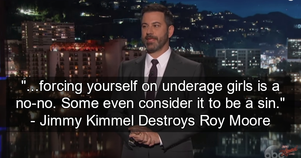 Roy Moore Goes To War With Jimmy Kimmel, And Loses (image via Screen Grab)