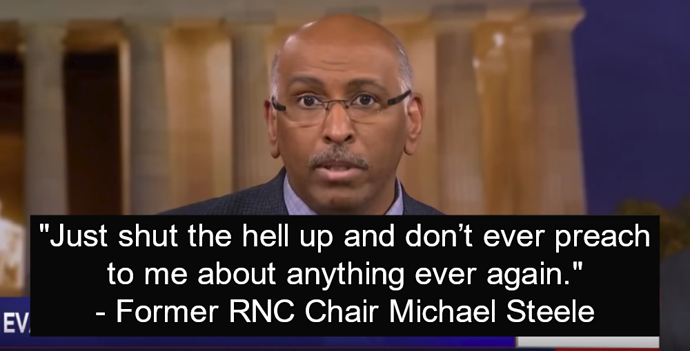 Former RNC Chair Michael Steele Tells Trump Loving Evangelicals To 'Shut The Hell Up' (Image via Screen Grab)