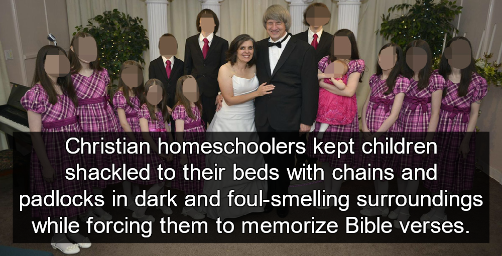 Christian Homeschoolers Kept Children Shackled To Beds (Turpin family image via Facebook)