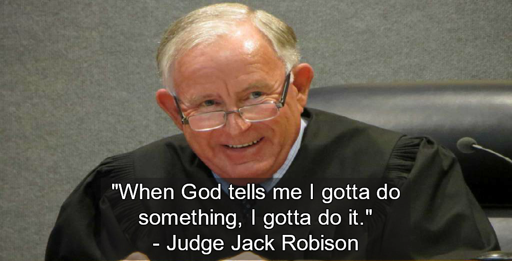 Texas Judge Jack Robison Tells Jury God Says Defendant Is Not Guilty (Image via Screen Grab)