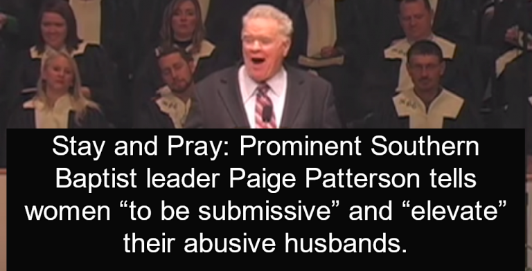 Southern Baptist Leader Paige Patterson: Abused Women Should Not Divorce (Image via screen grab)