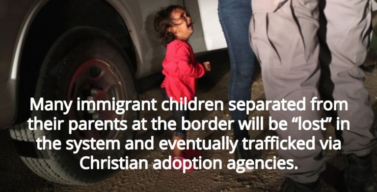 Report: Concentration Camp Kids Will Be Trafficked Via Christian Adoption Agencies (Image via YouTube)