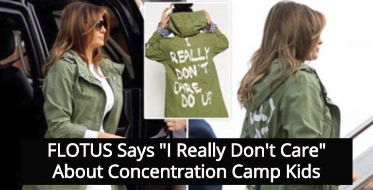Melania Trump Wears 'I Don't Care' Jacket To Visit Detention Center For Kids (Image via Screen Grab)