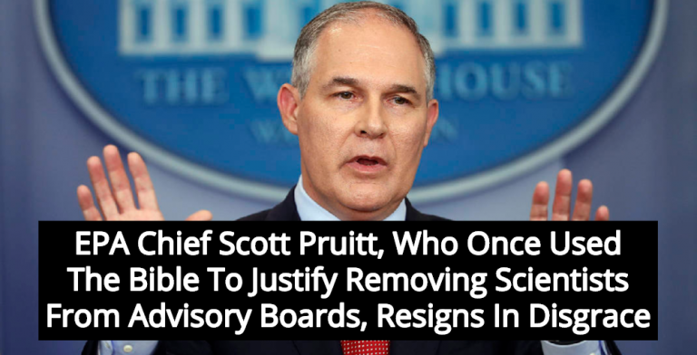 EPA Chief Scott Pruitt Resigns: Corrupt Christian Extremist Leaves In Disgrace (Image via YouTube)