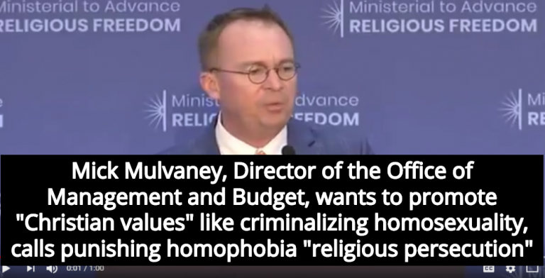 Trump Administration Defends Violence Against LGBT In Africa As 'Religious Freedom' (Image via Screen Grab)