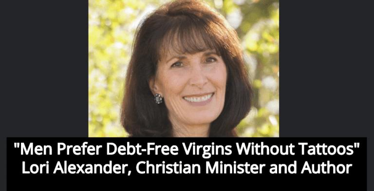 Christian Minister Lori Alexander: 'Men Prefer Debt-Free Virgins Without Tattoos' (Image via Facebook)