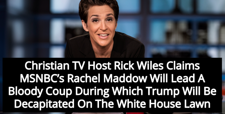 Christian TV Host Warns Rachel Maddow Will Lead Coup Against Trump (Image via YouTube)