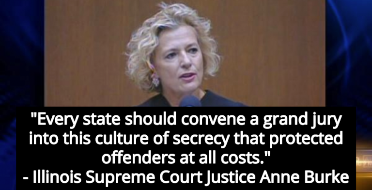 Illinois Supreme Court Justice Anne Burke Calls For National Investigation Into Predator Priests (Image via Screen Grab)