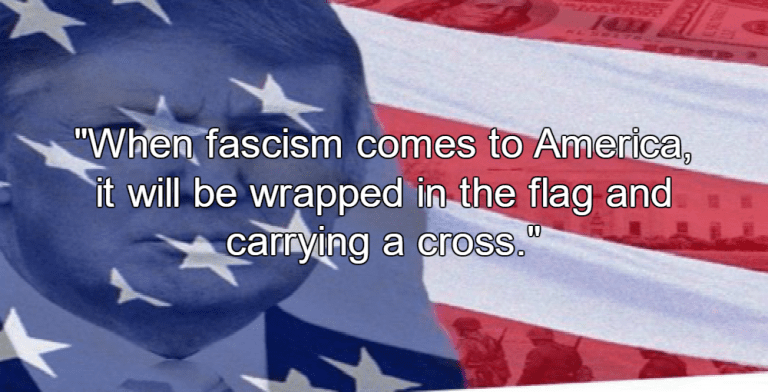 'Fascism In The Flesh': Trump Threatens Violence If Dems Win Midterms (image via Twitter)