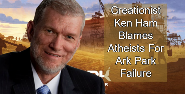 Ken Ham Blames Atheists For Ark Park Failure (Image via YouTube)