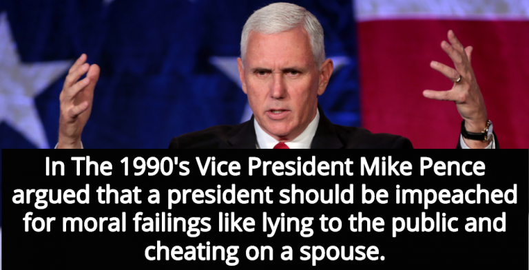 Mike Pence: A President Should Be Impeached For Moral Failings (Image via Flickr)