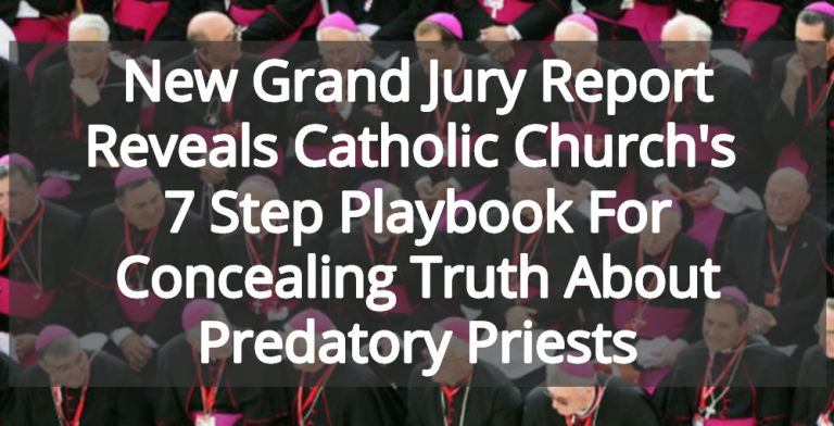 Catholic Church Uses 7 Step Playbook For Concealing Truth About Predatory Priests (Image via Twitter)