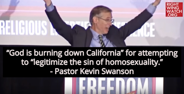 Conservative Pastor: 'God Is Burning Down California' Because The Gays (Image via Screen Grab)