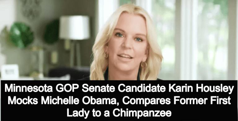 GOP Senate Candidate Karin Housley Compares Michelle Obama To Chimpanzee (Image via Facebook)