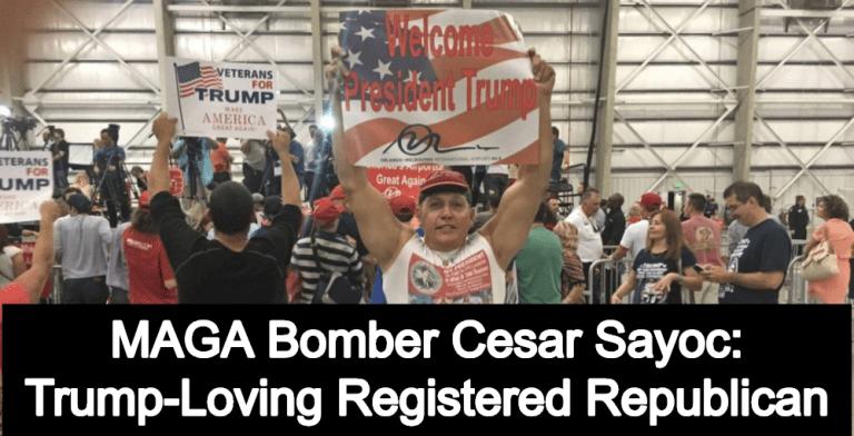 MAGA Bomber Identified As Cesar Sayoc: Trump-Loving Registered Republican (Image via Reddit)