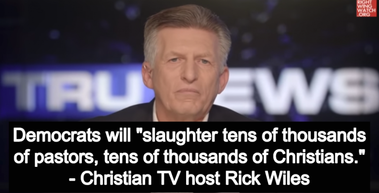 Christian TV Host Warns If Democrats Win They Will Slaughter 'Thousands Of Christians' (Image via Screen Grab)