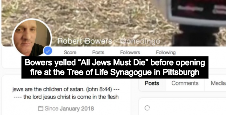 Pittsburgh Synagogue Shooter Identified As Christian Nationalist Robert Bower (Image via Screen Grab)