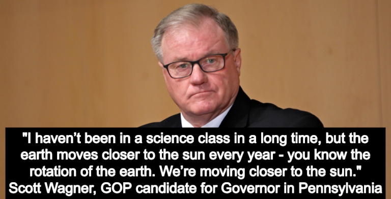 GOP Candidate Scott Wagner Explains Climate Change: 'We're Moving Closer To The Sun' (Image via YouTube)