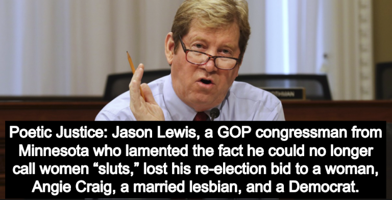 GOP Congressman Who Liked To Call Women 'Sluts' Loses Re-Election Bid To A Woman (Image via Screen Grab)