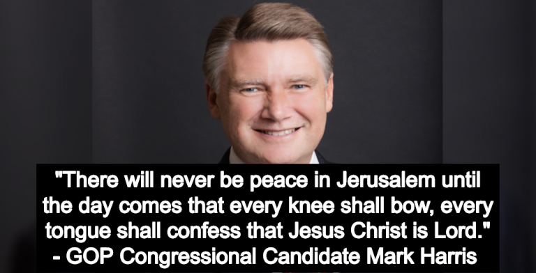 GOP Congressional Candidate: No Peace Until Jews And Muslims Convert To Christianity (Image via Twitter)