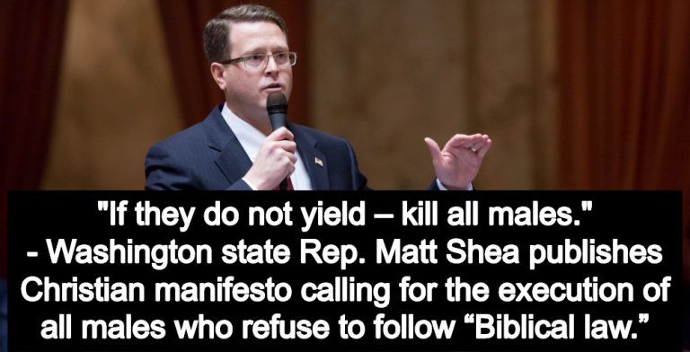 GOP Lawmaker Matt Shea Releases Christian Manifesto Calling For Biblical Law (Image via mattshea.houserepublicans.wa.gov)