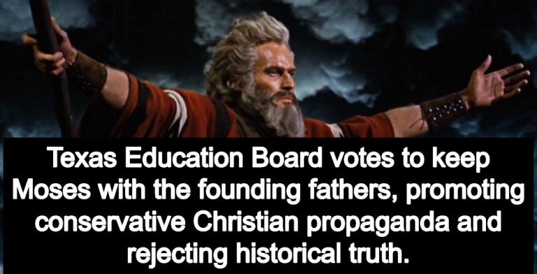 Texas Education Board Votes To Keep Moses As Founding Father In Social Studies Curriculum (Image via YouTube)