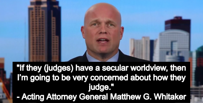Trump's New Attorney General Says Judges Should Have A 'Biblical View Of Justice' (Image via Screen Grab)