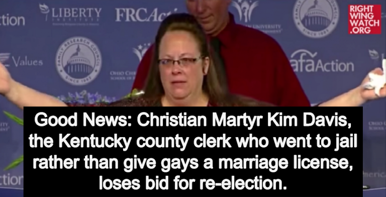 Anti-Gay Kentucky Clerk Kim Davis Loses Re-Election Bid (Image via Screen Grab)