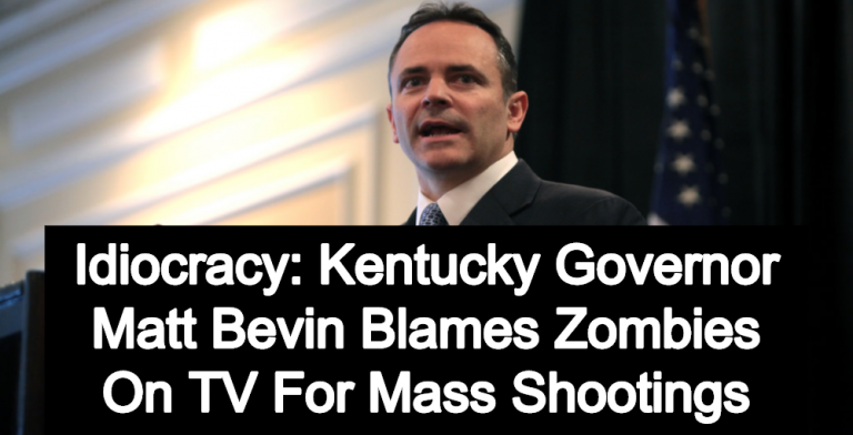 Kentucky Governor Matt Bevin Blames Zombies On TV For Mass Shootings (Image via Flickr)