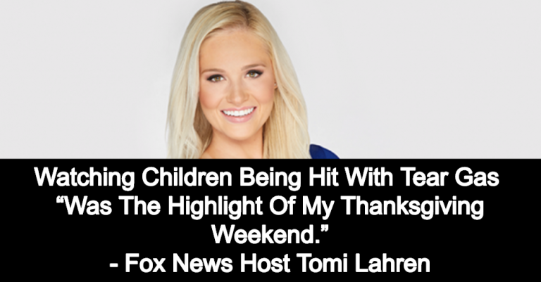Fox Host Tomi Lahren Enjoys Watching Migrant Children Being Hit With Tear Gas (Image via Twitter)