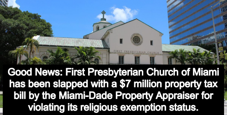 Florida Church Hit With $7 Million Tax Bill After Violating Religious Exemption Status (Image via Wikipedia)