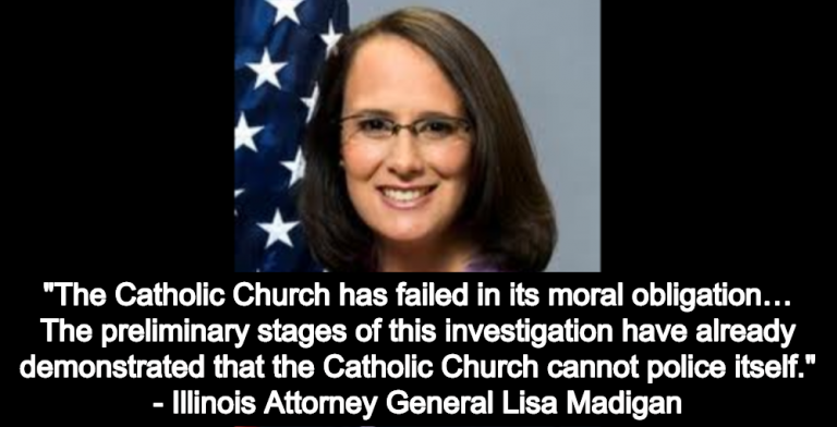 Illinois Attorney General Reports Catholic Church Protecting At Least 500 Accused Priests (Image via Twitter)
