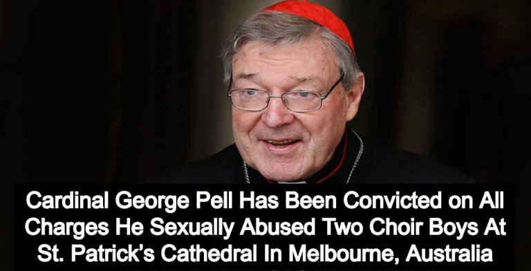 Top Vatican Official Cardinal George Pell Convicted Of Sexually Abusing Choir Boys (Image via YouTube)