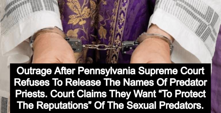 Pennsylvania Supreme Court Rules Names Of Predator Priests Will Be Kept Secret (Image via YouTube)
