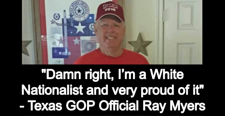 Top Texas GOP Official Proudly Declares He's A White Nationalist (Ray Myers image via Facebook)