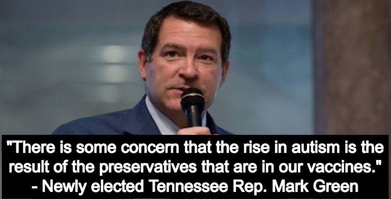 New GOP Congressman Mark Green Rejects Science, Claims Vaccines May Cause Autism (Image via Screen Grab)