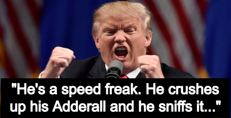 Report: President Donald Trump Is An Adderall Snorting 'Speed Freak' (Image via Facebook)