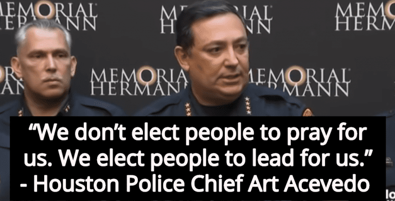 Houston Police Chief Art Acevedo: We Don't Want Prayers From Politicians (Image via Screen Grab)