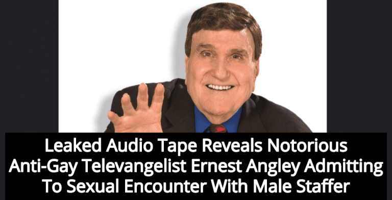 Anti-Gay Televangelist Ernest Angley Caught On Tape Admitting To Sexual Relations With Man (Image via Twitter)