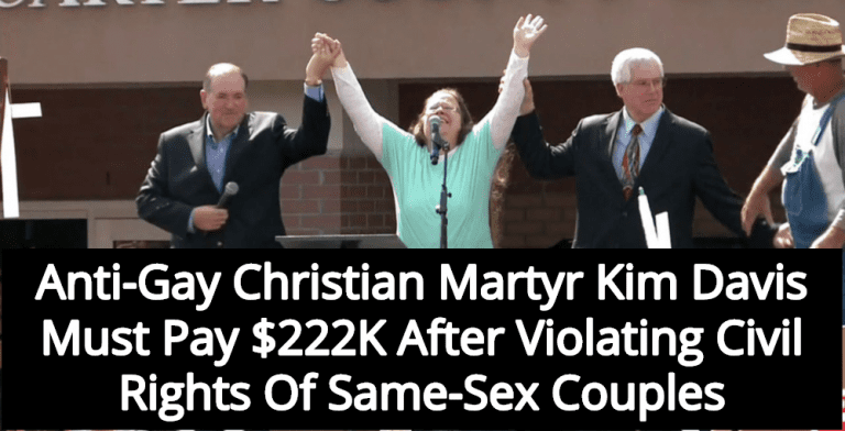 Report: Anti-Gay Christian Martyr Kim Davis Must Pay $222K In Legal Fees (Image via Screen Grab)