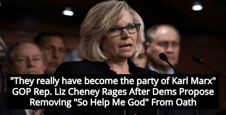 Republicans Rage After Democrats Propose Removing 'So Help Me God' From Oath (Image via Twitter)