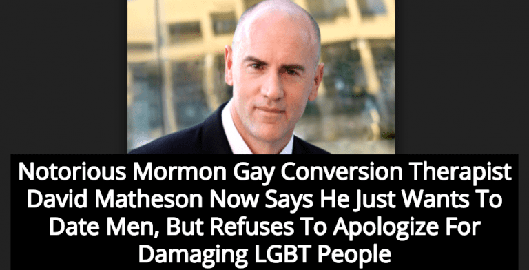 Leading Mormon Gay Conversion Therapist Now Wants To Date Men (Image via Screen Grab)