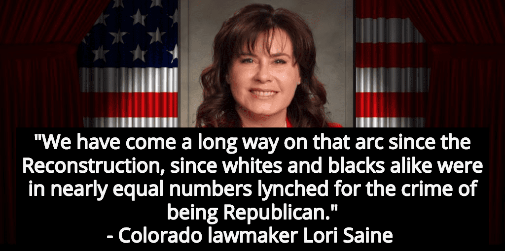 GOP Lawmaker Lori Saine: Blacks And Whites Were Lynched In 'Nearly Equal Numbers' (Image via Twitter)