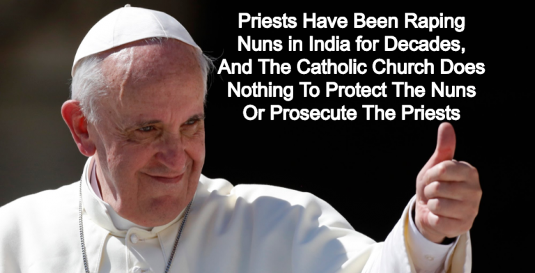 Report: Catholic Church Knew Priests Were Raping Nuns In India For Decades (Image via Facebook)