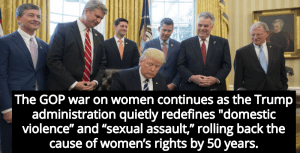 Trump Administration Quietly Redefines 'Domestic Violence' And 'Sexual Assault' (Image via Twitter)